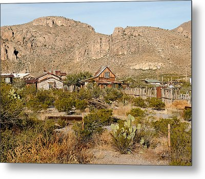 Steins Ghost Town Metal Print by Gordon Beck
