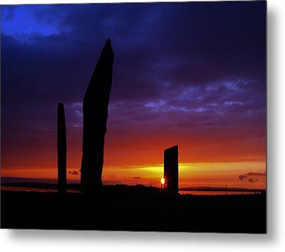 Stennes Sunset Metal Print by Steve Watson
