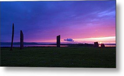 Stenness Sunset 3 Metal Print by Steve Watson