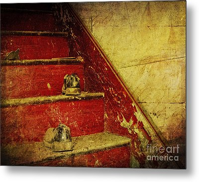 Metal Print featuring the photograph Step Back In Time by Debra Fedchin