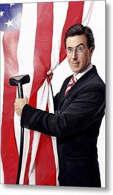 Metal Print featuring the painting Stephen Colbert Artwork by Sheraz A
