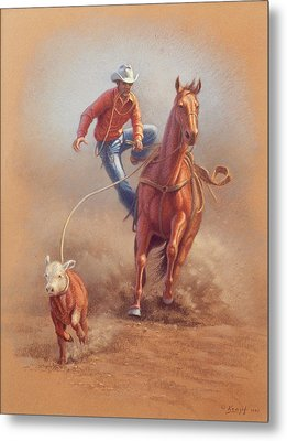 Steppin' Down At Red Lodge Metal Print by Paul Krapf