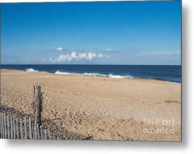 Stepping Onto The Beach Metal Print