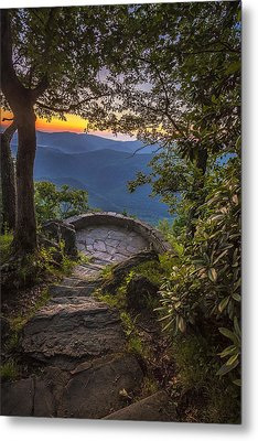 Steps To A View Metal Print by Andrew Soundarajan