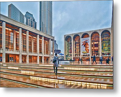 Steps To Fame Lincoln Center Metal Print by Jeffrey Friedkin