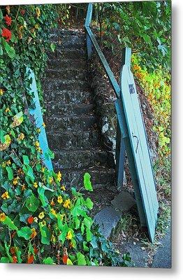 Steps To Somewhere Metal Print by Connie Fox