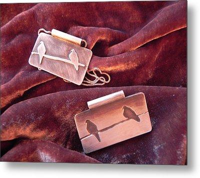Sterling Silver Bird Pendants Metal Print