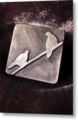 Sterling Silver Birds Metal Print