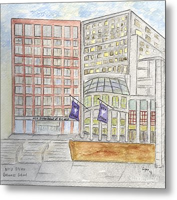 Nyu Stern School Of Business Metal Print by AFineLyne