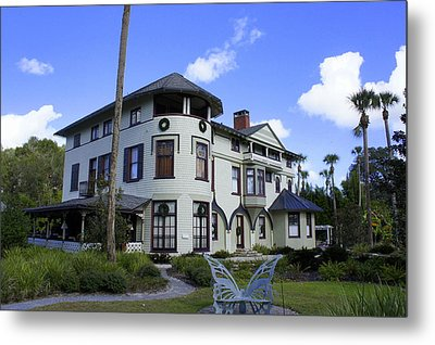 Stetson Mansion Metal Print by Laurie Perry