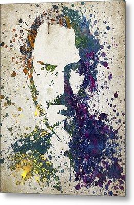 Steve Jobs In Color 02 Metal Print