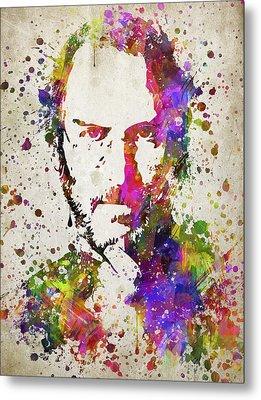 Steve Jobs In Color Metal Print