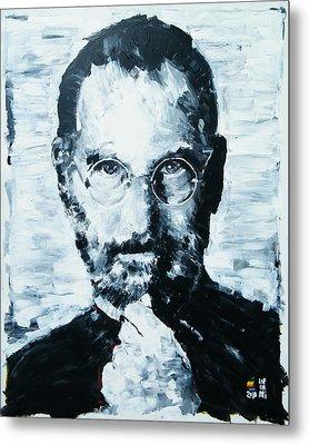 Steve Jobs Metal Print by Michael Leporati