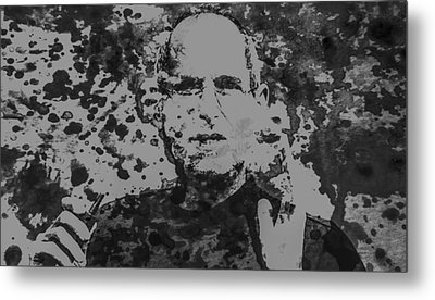 Steve Jobs Paint Splatter 3b Metal Print
