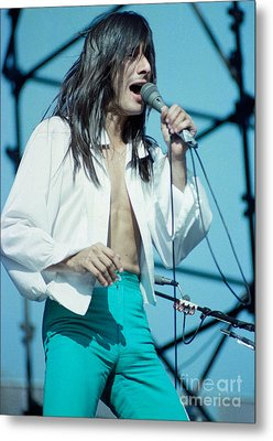 Steve Perry Of Journey At Day On The Green - July 1980 Metal Print by Daniel Larsen