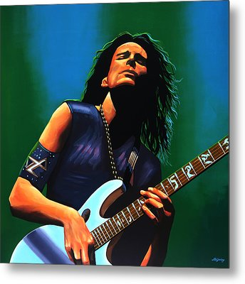 Steve Vai Metal Print by Paul Meijering