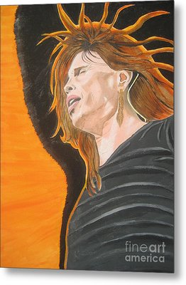 Metal Print featuring the painting Steven Tyler Art Painting by Jeepee Aero