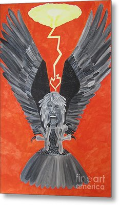 Metal Print featuring the painting Steven Tyler As An Eagle by Jeepee Aero