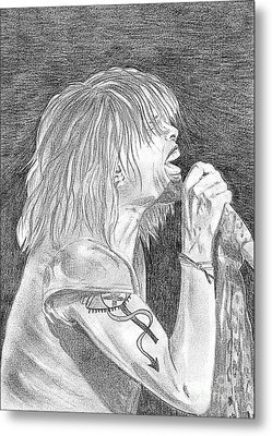 Steven Tyler Concert Drawing Metal Print by Jeepee Aero