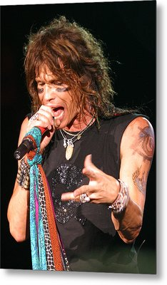 Metal Print featuring the photograph Steven Tyler by Don Olea