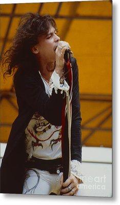 Steven Tyler Of Aerosmith At Monsters Of Rock In Oakland Ca Metal Print by Daniel Larsen