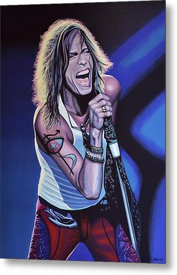 Steven Tyler 3 Metal Print by Paul Meijering