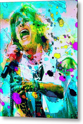 Steven Tyler Metal Print by Rosalina Atanasova