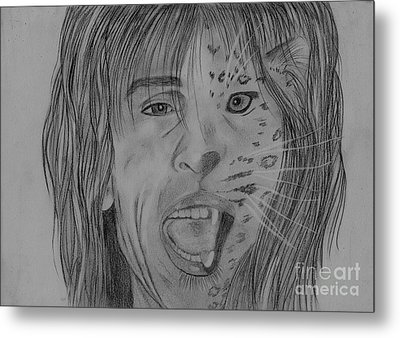 Metal Print featuring the drawing Steventylopard by Jeepee Aero