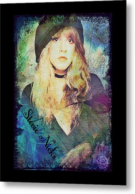 Stevie Nicks - Beret Metal Print