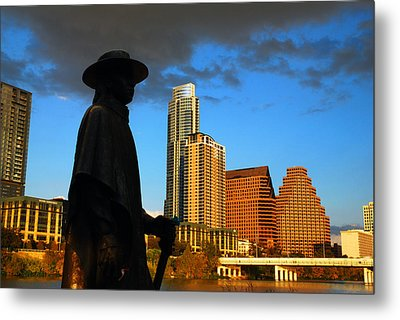 Metal Print featuring the photograph Stevie Ray In Austin by James Kirkikis
