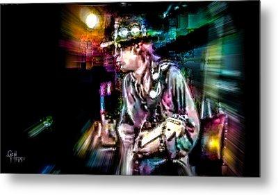 Stevie Ray Vaughan - Smokin' Metal Print