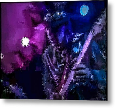 Metal Print featuring the photograph Stevie Ray Vaughan - Lenny  by Glenn Feron