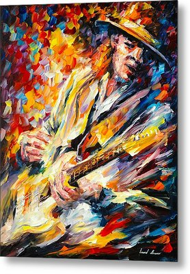 Stevie Ray Vaughan Metal Print by Leonid Afremov