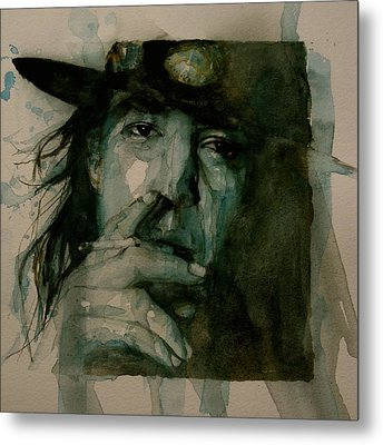 Stevie Ray Vaughan Metal Print by Paul Lovering