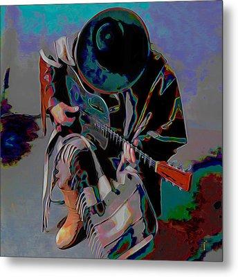 Stevie Ray Vaughan Srv Metal Print by  Fli Art