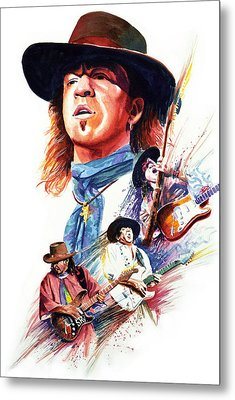 Stevie Ray Vaughn Metal Print by Ken Meyer jr