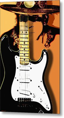 Stevie Ray Vaughan Metal Print by Larry Butterworth