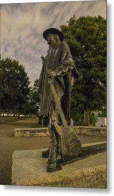 Stevie Ray Vaughn Statue In Austin Tx Metal Print