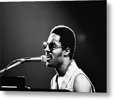 Stevie Wonder - Piano Man Metal Print