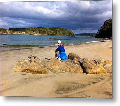 Stewart Island Golf Beach Metal Print by Venetia Featherstone-Witty