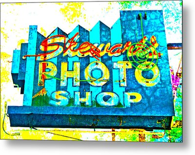Stewart's Photo Shop Metal Print by Gail Lawnicki