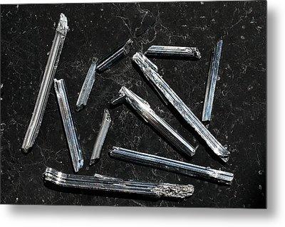 Stibnite I Metal Print by Dirk Wiersma