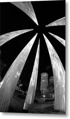 Sticks Of Fire At University Of Tampa Metal Print by Daniel Woodrum