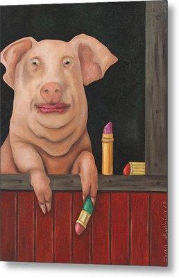 Still A Pig Metal Print