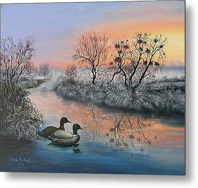 Metal Print featuring the painting Still Beauty by Vesna Martinjak