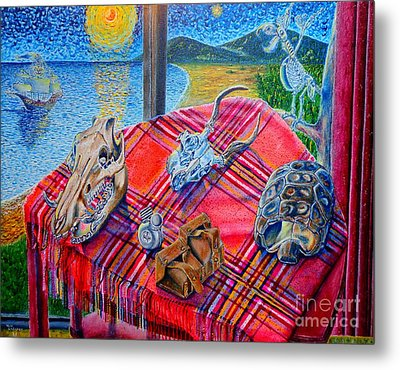 Metal Print featuring the painting Still Life And ...pirats by Viktor Lazarev