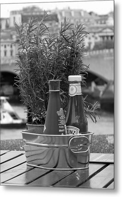 Still Life Condiments Metal Print