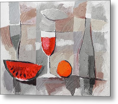 Still Life Grey Metal Print