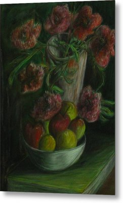 Still Life In A Dark Room Metal Print by Michael Anthony Edwards