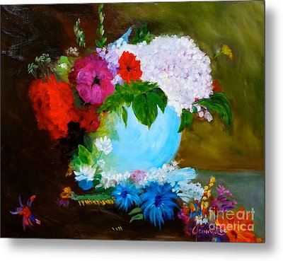 Metal Print featuring the painting Still Life by Jenny Lee